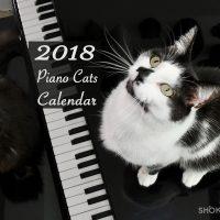 shoko 2018 piano cats calendar